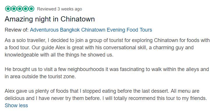 chinatown food tour night